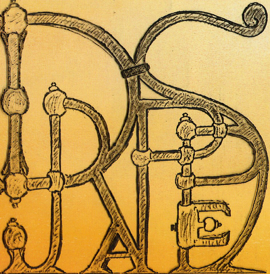 Logo drappes ecrit avec fond