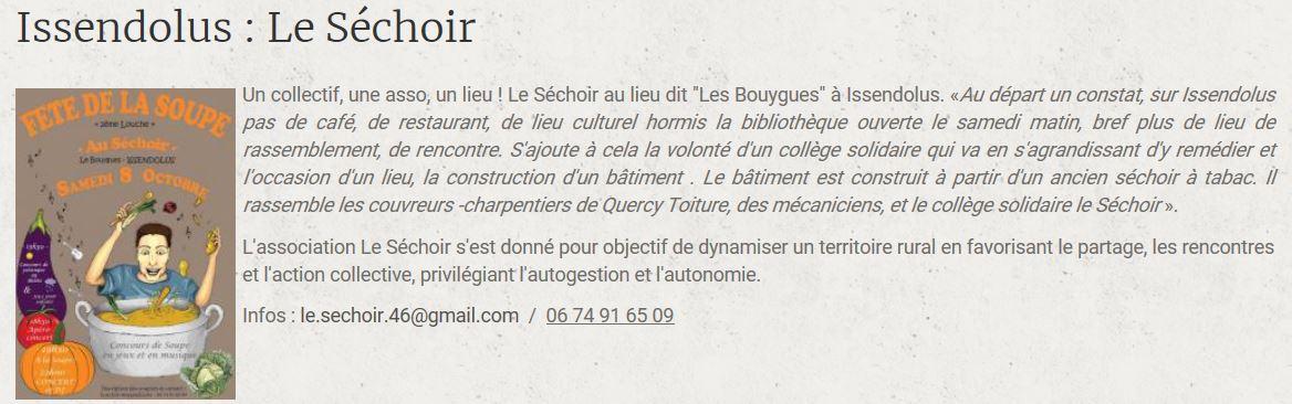Sechoir issendolus info lot en action cafe associatif